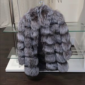 Real Silver Fox Fur Jacket!!! Thick and luxurious